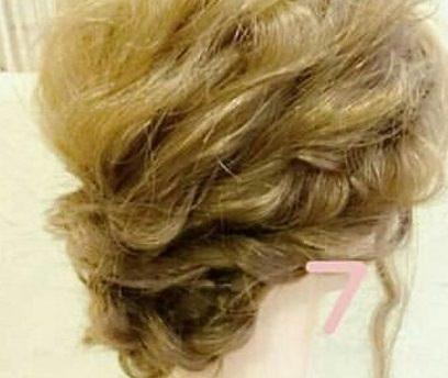 綺麗め♡簡単まとめ髪 ⑦