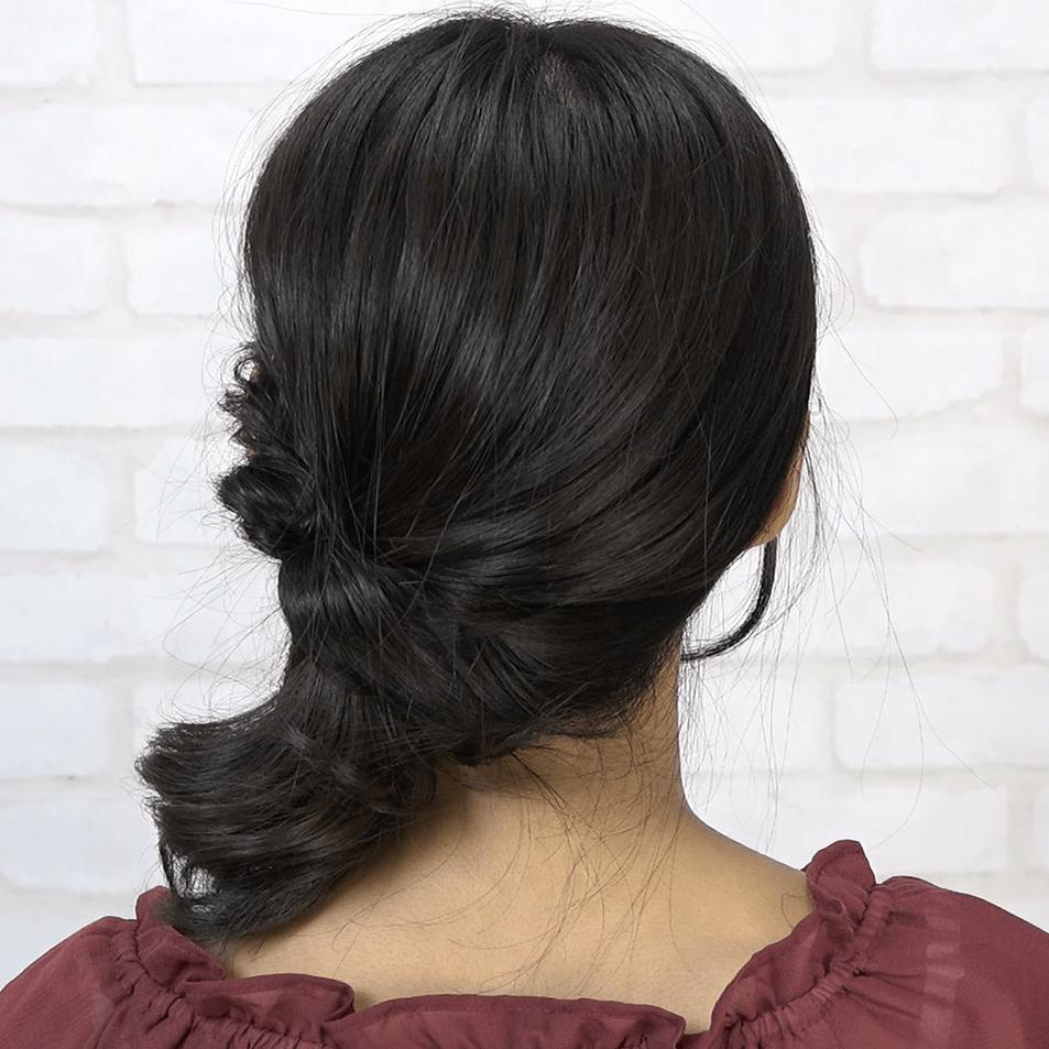おくれ毛が女性らしい♪サイドポニーテール 6