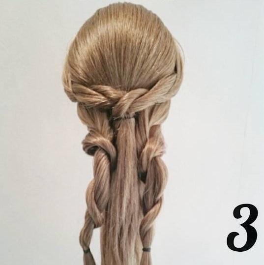 ロープ編みで出来る☆大人女子の簡単パーティスタイル3