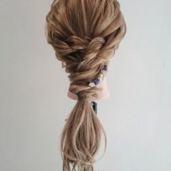 ロープ編みで出来る☆大人女子の簡単パーティスタイルtop
