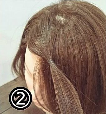 くるりんぱで出来る簡単可愛い前髪アレンジ2