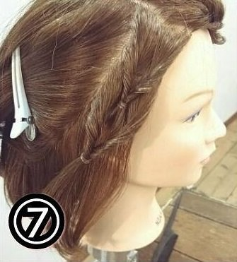 くるりんぱで出来る簡単可愛い前髪アレンジ7