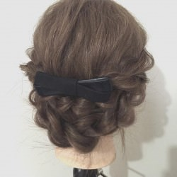 ロープ編みで簡単☆愛されまとめ髪アレンジtop