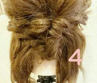 綺麗め♡簡単まとめ髪 ④