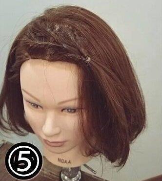 くるりんぱで出来る簡単可愛い前髪アレンジ5