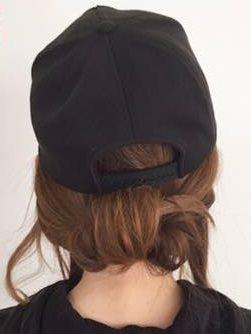 キャップにぴったり☆綺麗なまとめ髪アレンジ8