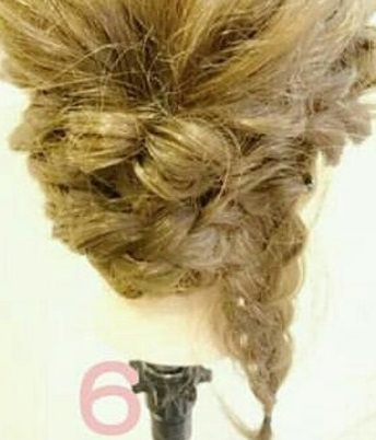 綺麗め♡簡単まとめ髪 ⑥