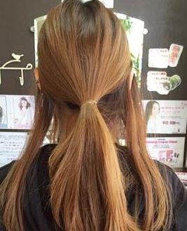 キャップにぴったり☆綺麗なまとめ髪アレンジ1