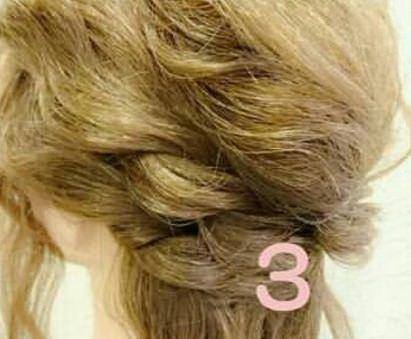 綺麗め♡簡単まとめ髪 ③