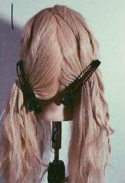 ロープ編みで作る☆お目立ちサイドポニー1
