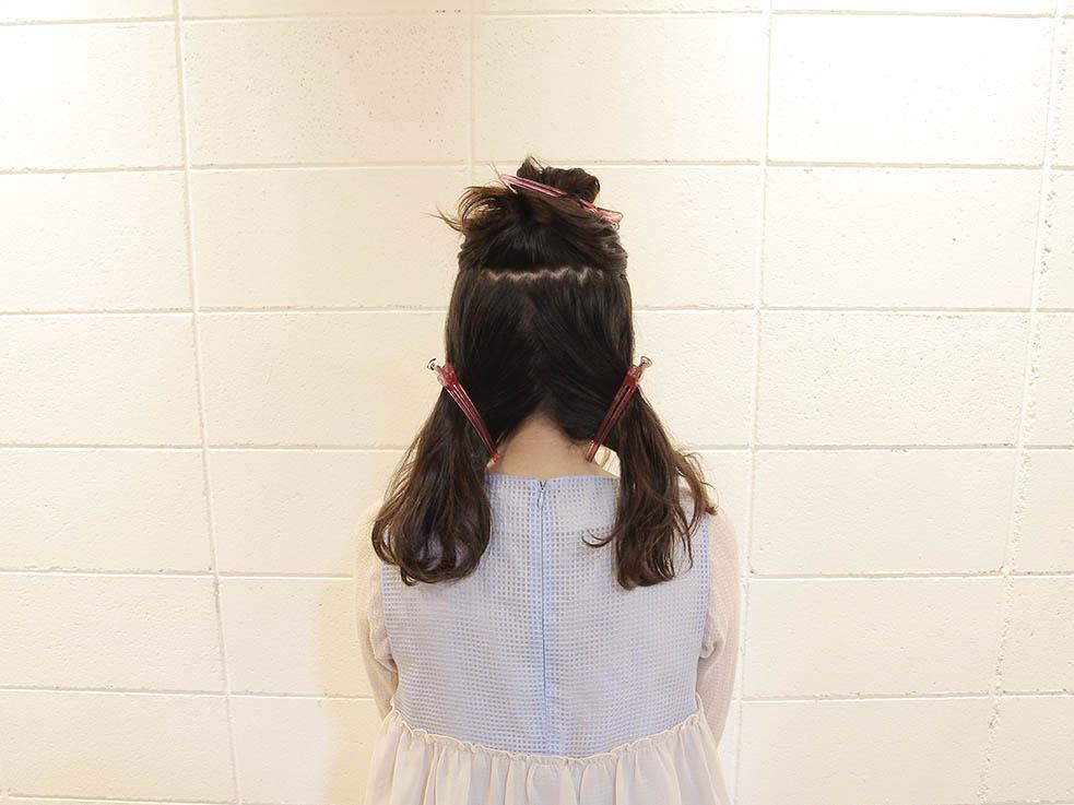二つ分け編み込みヘアアレンジ☆ガーリー系2