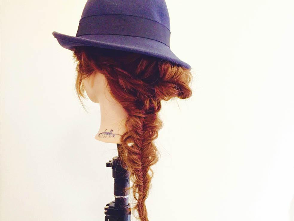 帽子にぴったり☆フィッシュボーンアレンジ