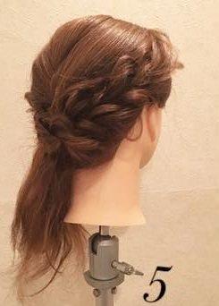 質感が可愛い♡上品なまとめ髪⑤