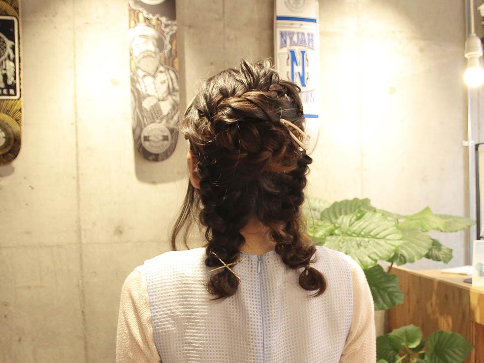 二つ分け編み込みヘアアレンジ☆ガーリー系 TOP