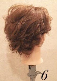 質感が可愛い♡上品なまとめ髪⑥