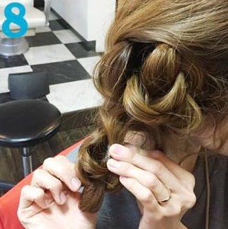 簡単三つ編みまとめ髪♪8