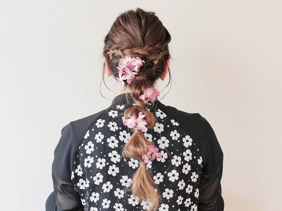 ねじり編みで作る!フェミニン玉ねぎヘア♪ ⑤