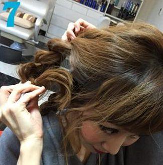 簡単三つ編みまとめ髪♪7