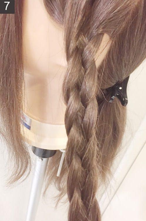 アレンジ上級編!平四つ編みの編み方☆7