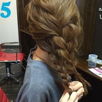 簡単三つ編みまとめ髪♪5