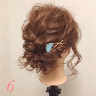 髪が短くても出来る!編み込みアップアレンジ6