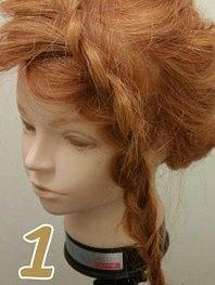 前髪からつくる!編み込みアップヘア☆1