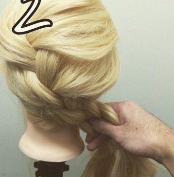 表編み込みでつくる☆大人可愛いまとめ髪2
