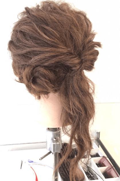 くるりんぱでゴージャスなまとめ髪♪4