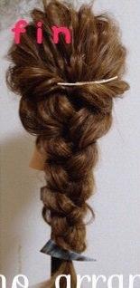 初心者さん向け♪簡単愛され編み下ろしヘア8