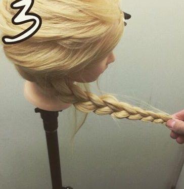 表編み込みでつくる☆大人可愛いまとめ髪3