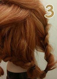 前髪からつくる!編み込みアップヘア☆3