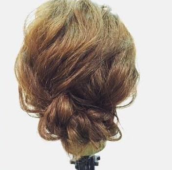 浴衣に似合う☆簡単三つ編みアップヘア4