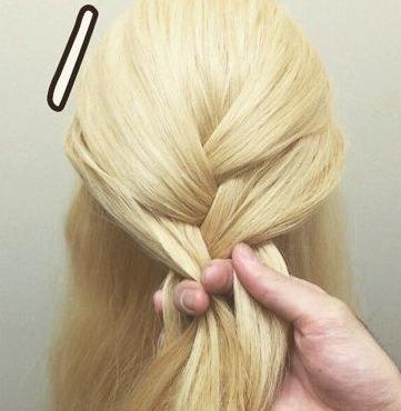 表編み込みでつくる☆大人可愛いまとめ髪1