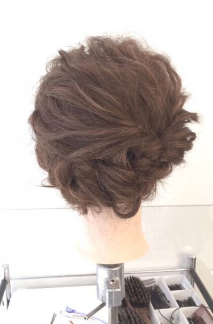 くるりんぱでゴージャスなまとめ髪♪6