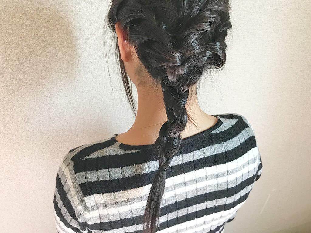 ねじり編みにひと工夫☆お嬢様風ダウンスタイル7