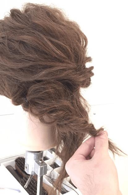 くるりんぱでゴージャスなまとめ髪♪3