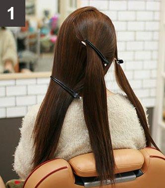 見る角度によって雰囲気が変わる☆編み込みで作るまとめ髪1