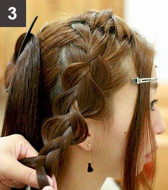 見る角度によって雰囲気が変わる☆編み込みで作るまとめ髪3