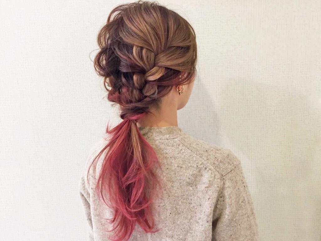 大人カジュアルで差を付ける!春の編み込みヘアアレンジトップ