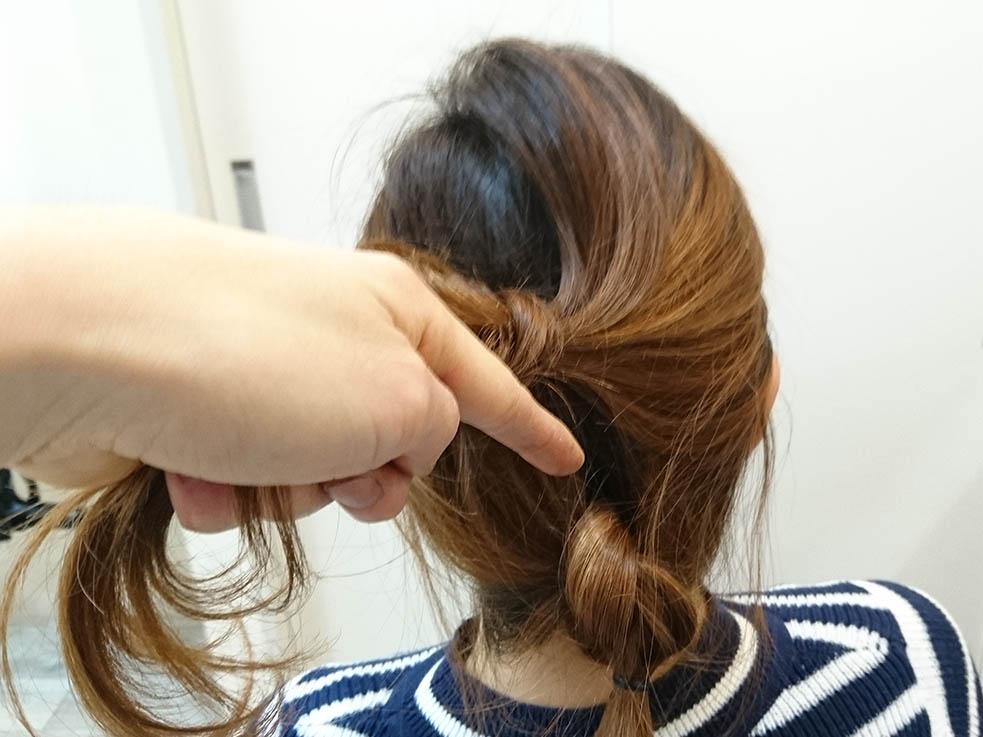 片結びでおしゃ見え☆ノットヘアー4