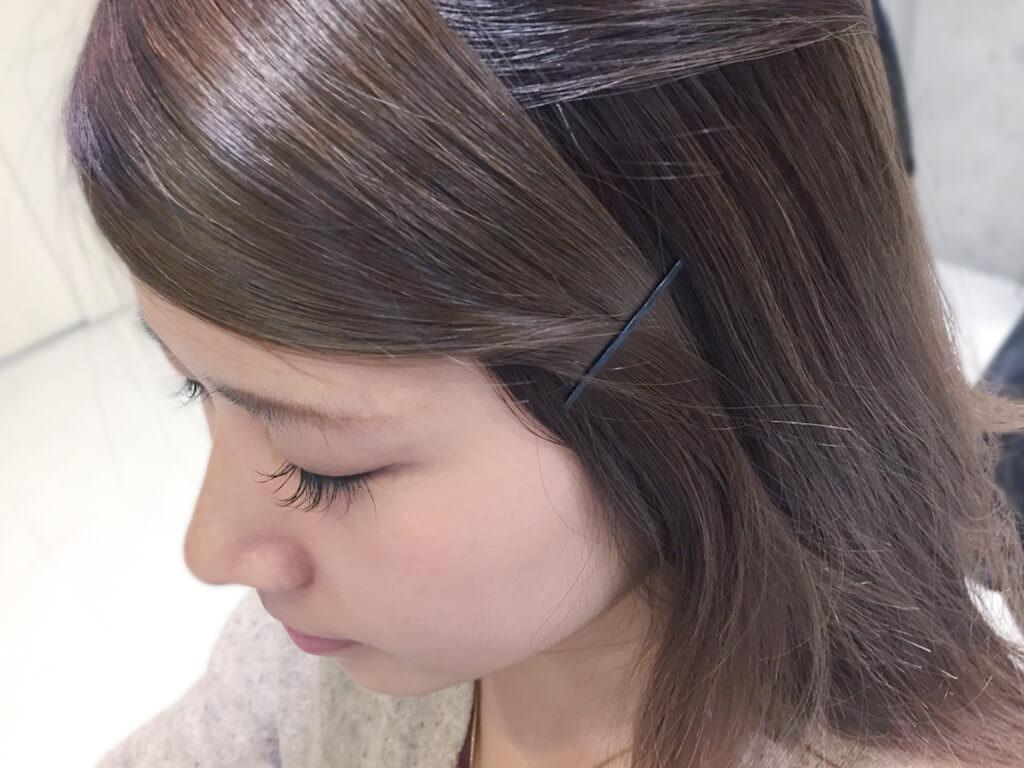 短い前髪にひと工夫!シンプルアレンジでイメチェン☆4