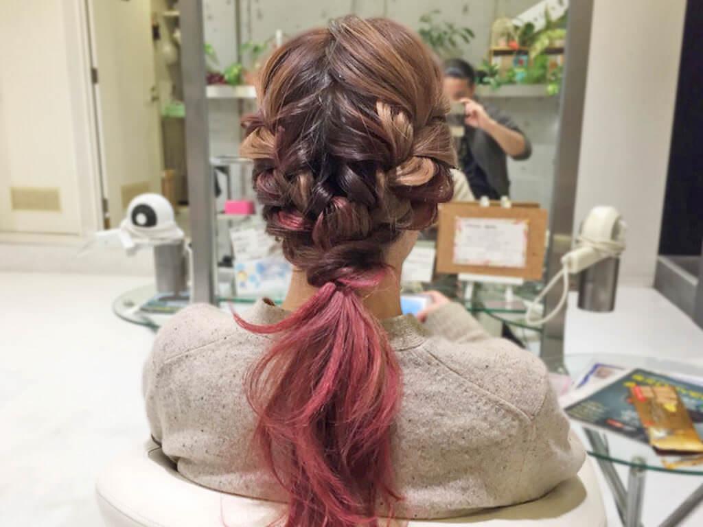 大人カジュアルで差を付ける!春の編み込みヘアアレンジ5