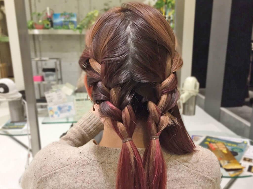 大人カジュアルで差を付ける!春の編み込みヘアアレンジ3
