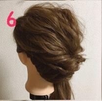 春っぽいお出かけまとめ髪6