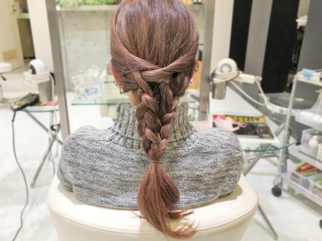 春にぴったり♪ラプンツェル風三つ編みヘア4
