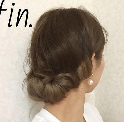 編み込みでかんたん!くるっと作るまとめ髪トップ