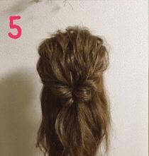 春っぽいお出かけまとめ髪5