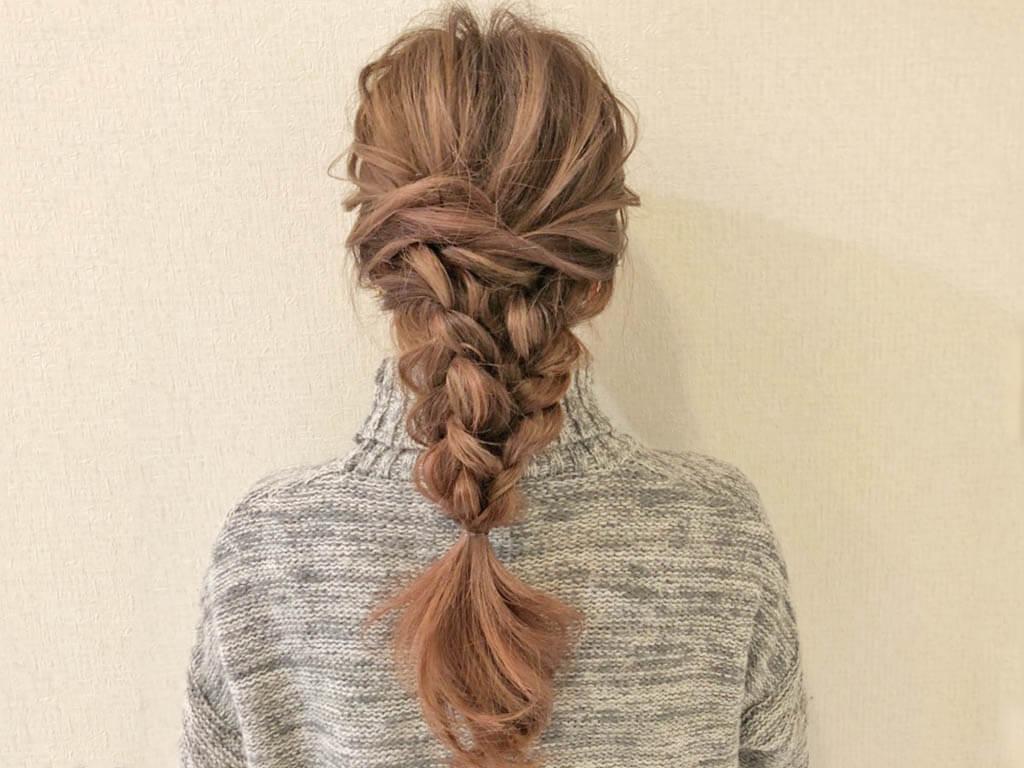 春にぴったり♪ラプンツェル風三つ編みヘアTOP