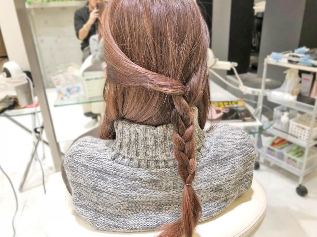 春にぴったり♪ラプンツェル風三つ編みヘア2