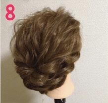 春っぽいお出かけまとめ髪8